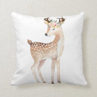 Boho Woodland Antlers Deer Baby Nursery Pillow