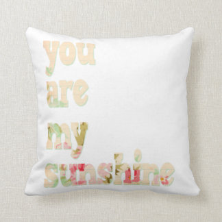 Boho You Are My Sunshine Vintage Pillow