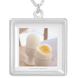 Boiled Egg Silver Plated Necklace