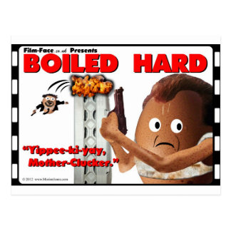 BOILED HARD Film-Face Funny spoof DIE HARD Postcard