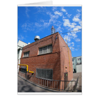 Boiler house with a gas pipe greeting card