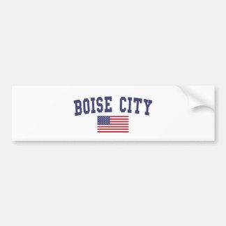 Boise City US Flag Bumper Sticker