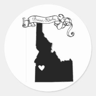 Boise Classic Round Sticker