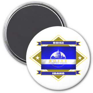 Boise Diamond 7.5 Cm Round Magnet