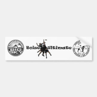 Boise, Idaho, Big Sky Ultimate Bumper Sticker