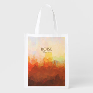 Boise, Idaho Skyline IN CLOUDS Reusable Grocery Bag