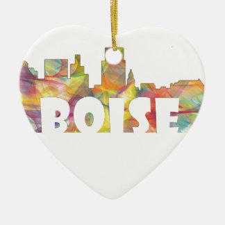 BOISE IDAHO SKYLINE MCLR2 CERAMIC HEART DECORATION