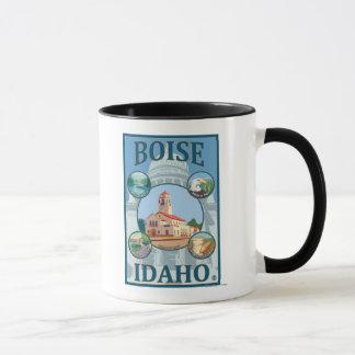 Boise, IdahoScenic Travel Poster Mug