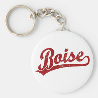 Boise script logo in red key ring