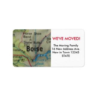 Boise We've Moved label