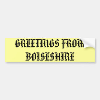 Boiseshire, The Sticker Bumper Sticker