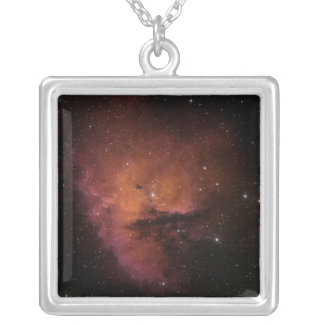 Bok Globules in NGC 281 Silver Plated Necklace