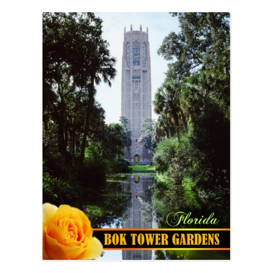 Bok Tower Gardens and Singing Tower, Florida Postcard