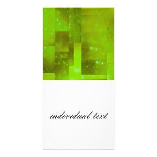 Bokeh 01 neon custom photo card
