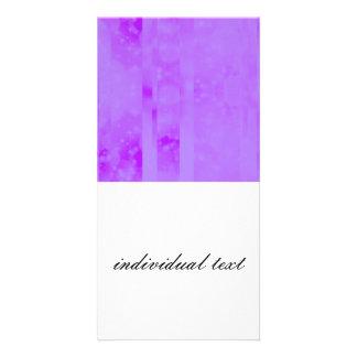 Bokeh 02 soft lilac personalized photo card