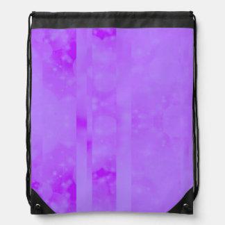 Bokeh 02 soft lilac drawstring backpacks
