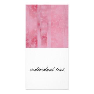 Bokeh 02 soft pink custom photo card