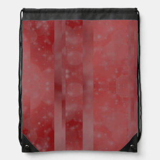 Bokeh 02 soft red drawstring backpacks