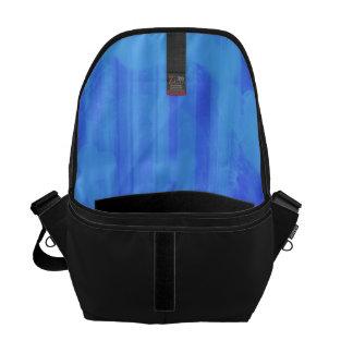 bokeh 04 hearts, blue (I) Courier Bags