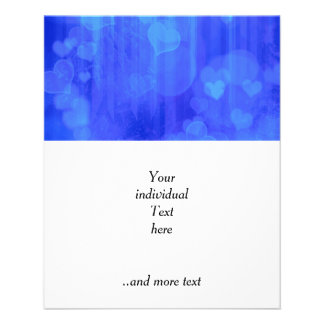 bokeh 04 hearts, blue (I) 11.5 Cm X 14 Cm Flyer