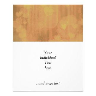 bokeh 04 hearts,golden (I) 11.5 Cm X 14 Cm Flyer