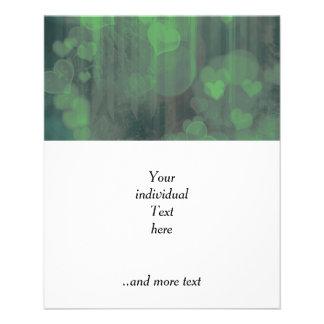 bokeh 04 hearts,green (I) 11.5 Cm X 14 Cm Flyer