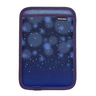 Bokeh Blue Abstract Starry Sky iPad Mini Sleeves