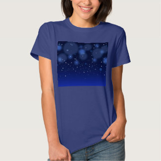 Bokeh Blue Abstract Starry Sky Shirts