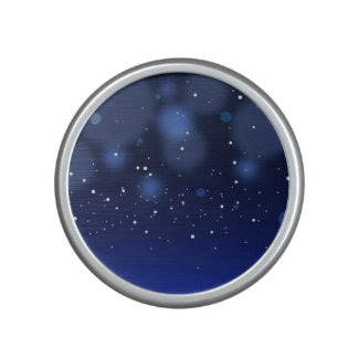 Bokeh Blue Abstract Starry Sky Speaker