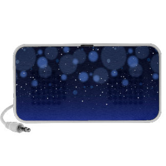 Bokeh Blue Abstract Starry Sky Mini Speakers