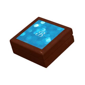 Bokeh Blue Gift Box