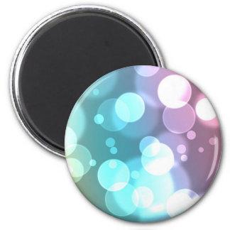 Bokeh Bubbles 6 Cm Round Magnet