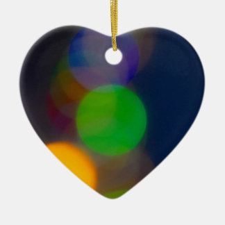 bokeh ceramic heart decoration