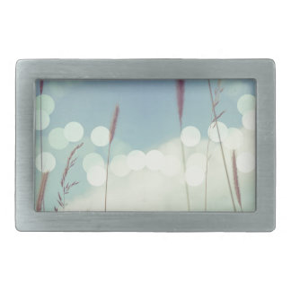 Bokeh Christmas Light Rectangular Belt Buckle
