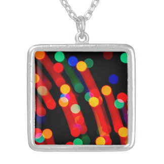Bokeh Christmas Lights With Light Trails Necklace