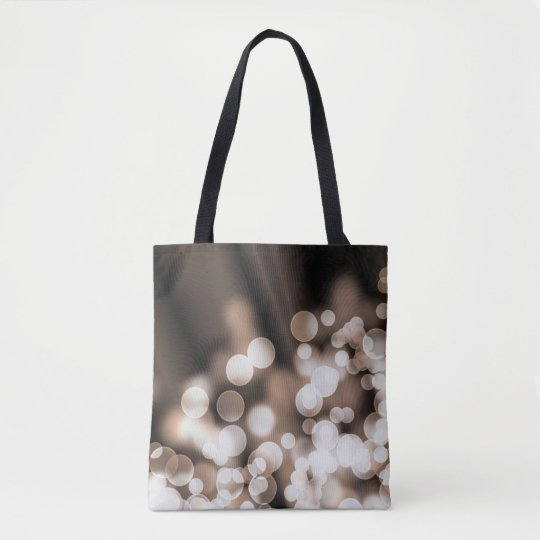Bokeh effect texture tote bag