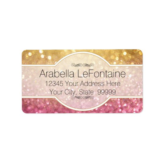 Bokeh Elegant Events Address Labels Glitter