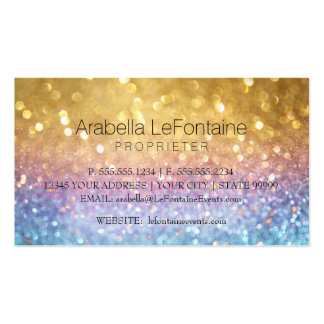 Bokeh Elegant Events Business Card Glitter