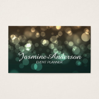 Bokeh Event Planner Business Card
