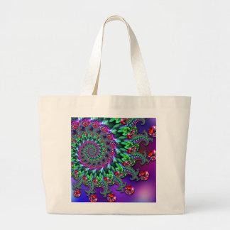 Bokeh Fractal Purple Terquoise Bag