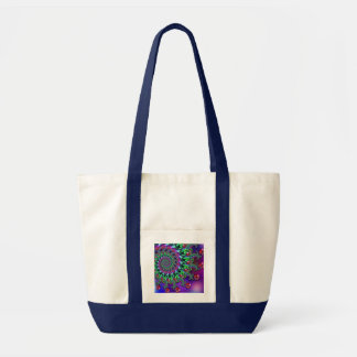 Bokeh Fractal Purple Terquoise Bag