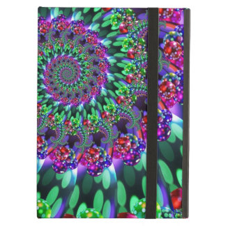Bokeh Fractal Purple Turquoise iPad Covers