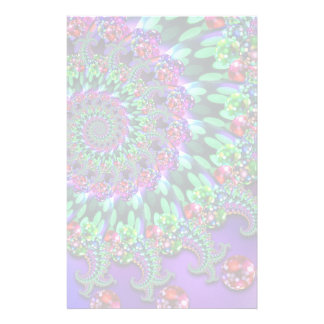 Bokeh Fractal Purple Turquoise Stationery
