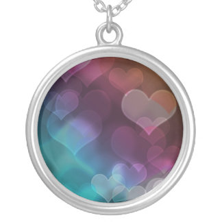 Bokeh Hearts Necklace