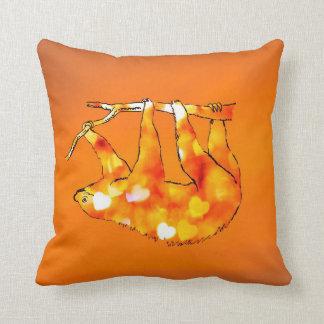 Bokeh Hearts Sloth Cushion