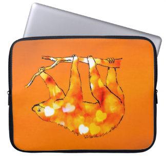 Bokeh Hearts Sloth Laptop Sleeve