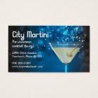 Bokeh Martini Business Card