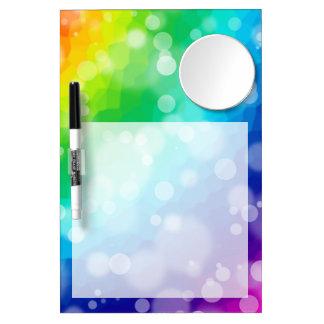 Bokeh Rainbow Dry Erase Board With Mirror