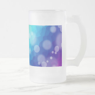 Bokeh Rainbow Pattern Frosted Glass Frosted Glass Beer Mug