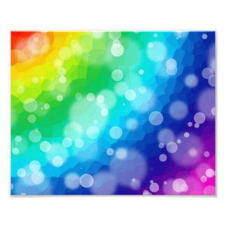 Bokeh Rainbow Pattern Photo Print